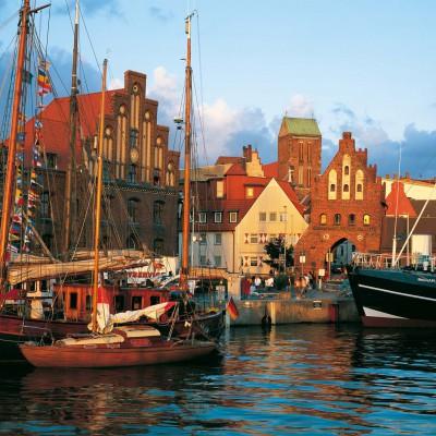 Stadthafen von Wismar Mecklenburg