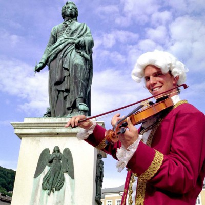 Mozart Denkmal in Salzburg