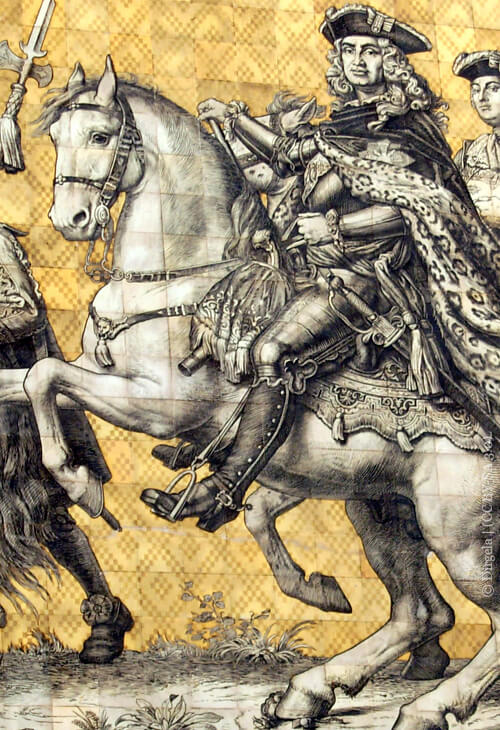 August der Starke als Teil des Dresdner Fürstenzugs