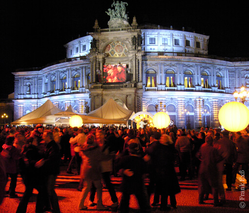 Die Semperoper zum Semperopernball