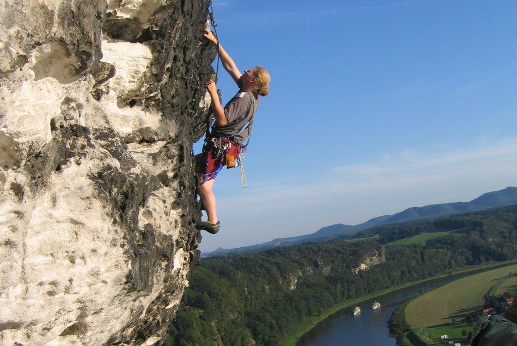 Sächsische Schweiz Kletterer