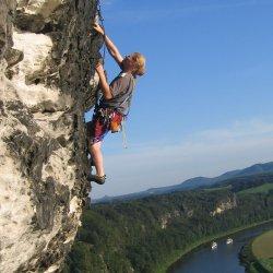 Tagesausflug Sächsische Schweiz Kletterer