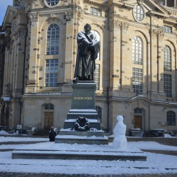 Dresden_Luther trifft Schneemann