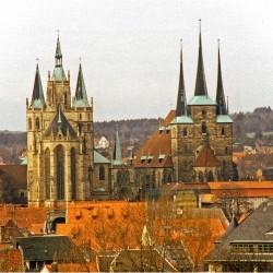 Blick auf Dom und St. Severi Erfurt