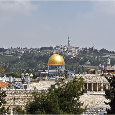 Blick vom Ölberg Jerusalem Israel