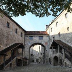 Hauptburg Innenhof Burg Burghausen