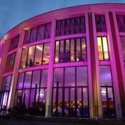 Festspielhaus illuminiert